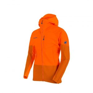 Turistická bunda Mammut Eisfeld Light SO Hooded Jacket Sunrise