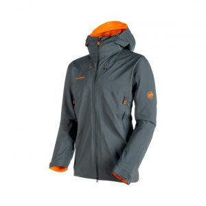 Turistická bunda Mammut Ultimate Eisfeld SO Hooded Jacket Storm